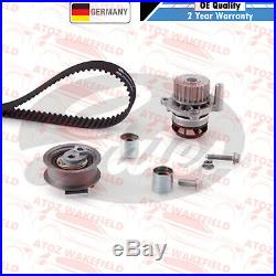 For Vw Golf Gti Mk5 Genuine Gates Timing Cam Belt Water Pump Kit Set Kp15604xs-2
