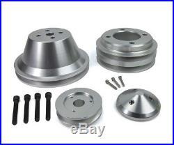 Ford SBF 302 Billet V-Belt Pulley Kit Alternator Water Pump Crankshaft 2V Groove