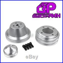Ford V-Belt Pulley Kit 302 351W 351C 351M 400M Alternator Crank Water Pump