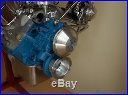 Ford Windsor 1969-later Biilet Pulley Kit 1v Balancer, 1v Water Pump +alternator