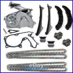 GENINE Fits 06-10 Hyundai Kia 3.3L 3.8L Timing Chain Tensioner Kit with Water Pump