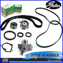 Gates HTD Timing Belt Kit V- Belt Water Pump for 2005-2010 Hyundai Kia 2.0L