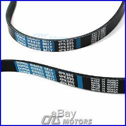 Gates HTD Timing Belt Kit Water Pump V- Belt for 2009-2012 Hyundai Elantra 2.0L