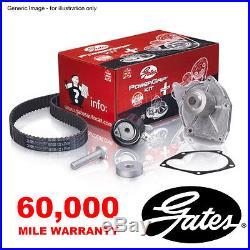 Gates Timing Belt Water Pump Kit For Peugeot 1007 206 207 307 308 407 Partner