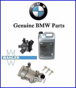 Genuine BMW Electric Engine Water Pump OEM Thermostat 3-Bolt kit &Antifreeze BMW