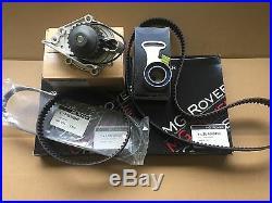 Genuine Mg Rover 200 25 Mgf Mgtf VVC Timing Belt Kit Water Pump Inc Alt Belt 1.8