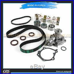 HNBR Timing Belt Water Pump Kit Fits Hyundai Santa Fe Sonata Optima 2.4L G4JS
