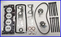 Head Gasket Set Bolts Water Pump Timing Belt Kit 206 207 307 1007 Partner 1.4