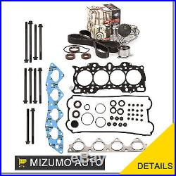 Head Gasket Set Timing Belt Kit Water Pump Fit 97-01 Honda B20B4 B20Z2