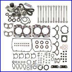 Head Gasket Set Timing Belt Kit Water Pump Fit 98-99 Subaru 2.5 DOHC EJ25