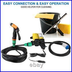 High Pressure Water Pump Gun Car Washer Portable12V Electric Self-Priming Kit US