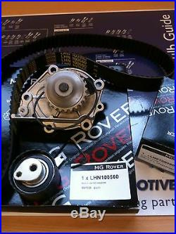 Mgtf Mg Tf Timing Belt Kit Also Rover 25 45 75 Mgf With Water Pump 1.4 1.6 & 1.8