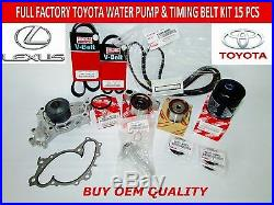 New Toyota Lexus Factory Oem Full Timing & Water Pump Kit 3.0 1mzfe Not Chinese