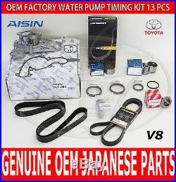 New Toyota Tundra 4.7 V8 Factory Oem Complete Timing Belt Water Pump Kit 14 Pcs