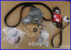 Oem Toyota Mr2 2.0 4 Cylinder Turbo 3sgte Timing Belt Water Pump & Belts Kit