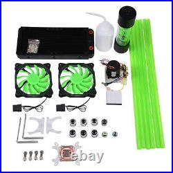 PC Liquid Water Cooling Kit 240mm CPU Block LED Fan Pump Computer Water Cooling