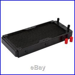 PC Liquid Water Cooling Kit 240mm Radiator CPU Block 2 Fan Pump Reservoir