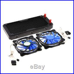 PC Liquid Water Cooling System Kit Radiator Pump Reservoir CPU GPU HeatSink High