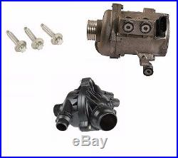 Pierburg Brand Electric Engine Water Pump & Thermostat with 3-Bolt kit BMW