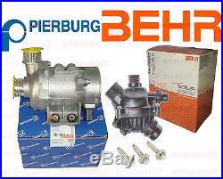 Pierburg Electric Engine Water Pump & BEHR Thermostat & 3-Bolt kit BMW