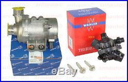 Pierburg Electric Engine Water Pump, OEM Thermostat & 3-Bolt kit BMW