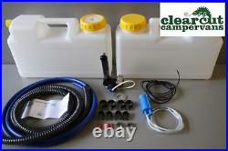 Plumbing Kit Sink Tap & Pump & 12l Water Containers Suit Smev 8005 Boat Yacht