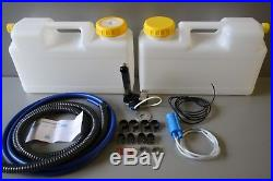 Plumbing Kit for Campervan Sink, Tap & Pump & 12l Water Containers Suit Smev 8005