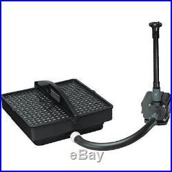 PondMaster 250 GPH 500 Gallon Pond Water Pump & Filter Kit 3750