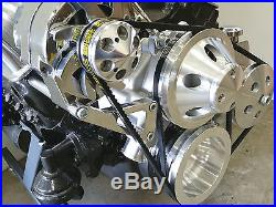 SB Chevy Complete LWP Aluminum Pulley Kit With Alternator Power Steering Pump 350