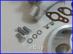 SB Chevy SBC Aluminum Long Water Pump & Aluminum Pulley Kit With Bolts & Gaskets