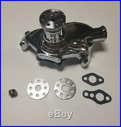 SB Chevy Short Water Pump & Pulley Kit w Alternator & Power Steering Pump SBC