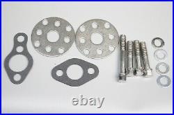SB Chevy Water Pump Short SBC 350 V8 High Volume Aluminum Pulley Kit 1 Grooves