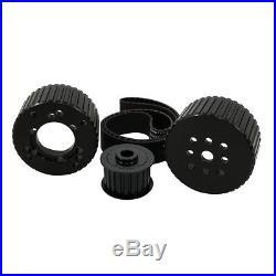 SBC Black Gilmer Belt Drive Pulley Kit Short Water Pump Billet Aluminum 350 400
