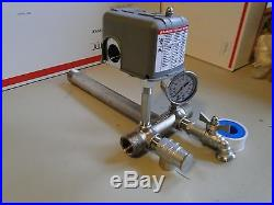 STAINLESS 1x11 TANK TEE KIT WATER WELL PRESSURE TANK PUMP 4060 SQUARE D SWITCH