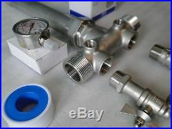 STAINLESS 1x11 +UNION TEE KIT WATER PRESSURE TANK PUMP 4060 SQUARE D FSG2 SWITCH