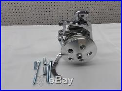 Sbc Chrome & Polished Power Steering Kit For Long Nose Water Pump Cr#-x030