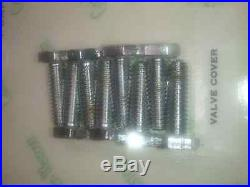 Small Block Chevy Engine chrome Bolt Kit Bow Tie bolt bowtie