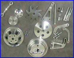 Small Block Chevy Long Water Pump Pulley Kit Power Steering Alternator Bracket