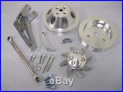 Small Block Chevy SWP Alternator Bracket Kit w Water Pump Crankshaft Alt Pulley