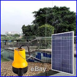Solar Powered Pump Kit 100W Solar Panel With Water Pump for Garden Pond Pool New