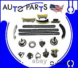 TIMING CHAIN KIT OIL PUMP WATER PUMP for 04-19 CHEVY GMC BUICK CADILLAC 3.0 3.6L