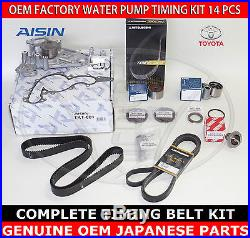 Toyota Sequoia 01-04 Oem Complete Timing Belt Water Pump 14 Pcs Kit