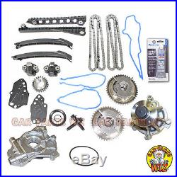 Timing Chain Cam Phasers Kit Water Oil Pump Fits 04-06 Ford 5.4L V8 SOHC 24v