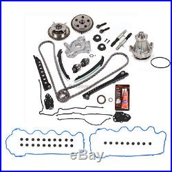 Timing Chain Kit Cam Phaser VCT Selenoid Oil Water Pump Fit 04-06 Ford 5.4L 24V