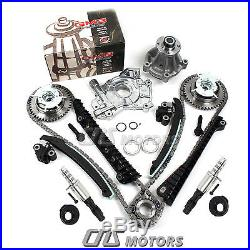 Timing Chain Kit Cam Phaser Water Pump Oil Pump Solenoid Valve Ford Lincoln 5.4L