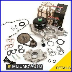 Timing Chain Kit Cover Gasket Water Oil Pump Fit 03-06 Cadillac GMC 4.8 5.3 6.0