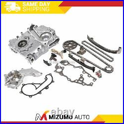 Timing Chain Kit Cover Water Oil Pump 3RZFE Fit 94-04 Toyota Tacoma 2.7