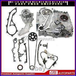 Timing Chain Kit Cover Water Oil Pump Fits 94-04 Toyota Tacoma 2.7L 3RZFE