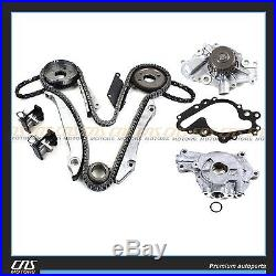 Timing Chain Kit Water Pump Oil Pump with Gear Fits 98-02 Chrysler Dodge 2.7L EER