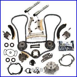 Timing Chain Kit Water Pump VTC Solenoid Fit 07-16 Cadillac Buick Suzuki 3.6L